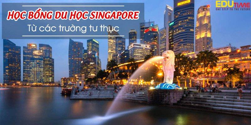 học bổng du học singapore 2021-2022 từ các trường tư thục