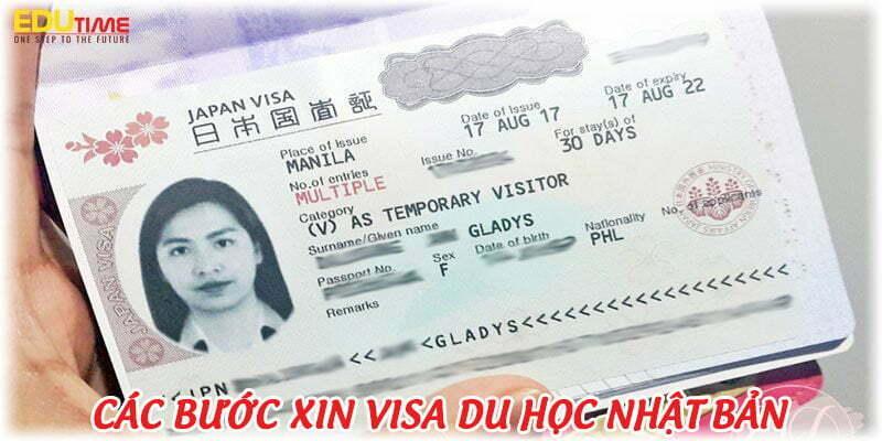 xin visa du học nhật bản 2021-2022 gồm những bước gì?